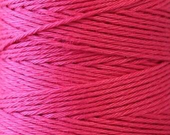 COSMO Hidamari Sashiko Thread #8 Raspberry Sorbet - 100% cotton - 30 meter (32.8 yd) skein -Hand Quilting Stitching-Lecien Japanese Imported