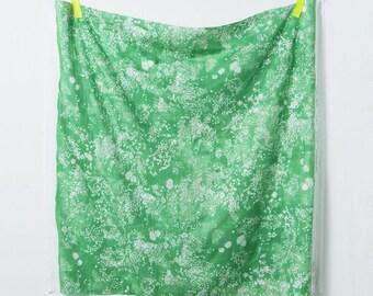 HALF YARD Kokka - Nani Iro 2020 - Beau Lei Nani - Green Colorway - 10310-1Q Japanese Double Gauze