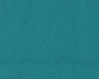 HALF YARD Kokka -Tayutou Solid Seafoam Green - JG-50810-10O- 45 Cotton 55 Linen Lightweight Canvas - Japanese Import Fabric Solids