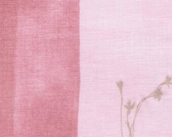 HALF YARD Kokka - Nani Iro 2019 - Temps - Single Gauze - Pink 10830-1B - Japanese