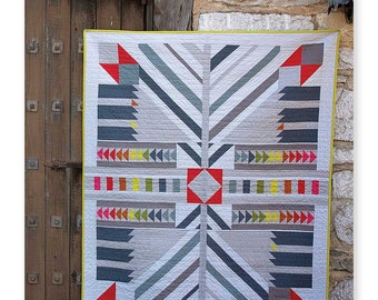 """Alison Glass Patterns - TIMBER Quilt Pattern by Nydia Kehnle and Alison Glass - 56"""" x 68"""" Quilt Pattern"""