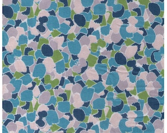 """HALF YARD Yuwa - Cotorienne """"Hirary"""" by Anyan BLUE Colorway - CO312720-B - Lawn, Butterflies - Japanese Import"""