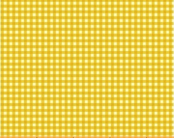 HALF YARD - Gingham in Gold Yellow - 50900-12  Trixie by Heather Ross - Windham Fabrics