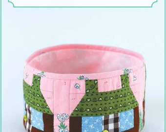 ZAKKA WORKSHOP Patterns - Patchwork House Basket - English Edition - Japanese Patchwork Pattern