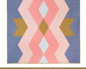 Lo & Behold Stitchery - Aztec Diamonds Quilt Pattern by Brittany Lloyd - Multiple Sizes