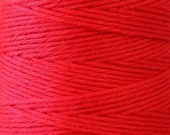 COSMO Hidamari Sashiko Thread #9 Watermelon - 100% cotton - 30 meter (32.8 yd) skein -Hand Quilting Stitching-Lecien Japanese Imported
