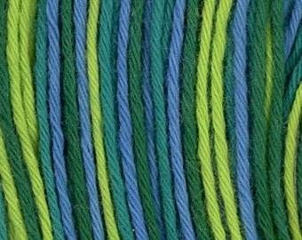 Sashiko Thread #77 Blue Green Variegated - 100% cotton - 20 meter (22 yd) skein - Hand Stitching- Japanese Import