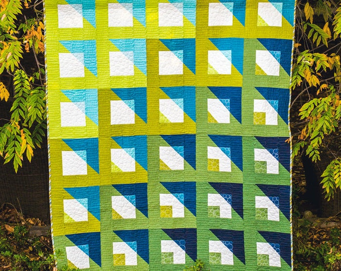 Orange Dot Quilts - BOXING PLAY - Created by Dora Cary - Quilt Paper Pattern
