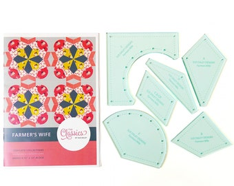 Sue Daley Designs - FARMER'S WIFE Template Collection - Includes Instructions and Acrylic Templates - Patchwork With Busyfingers