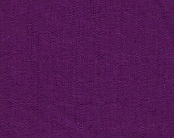 HALF YARD Kokka - Echino Solid Purple JG-95410-10B  - Japanese Import Fabric