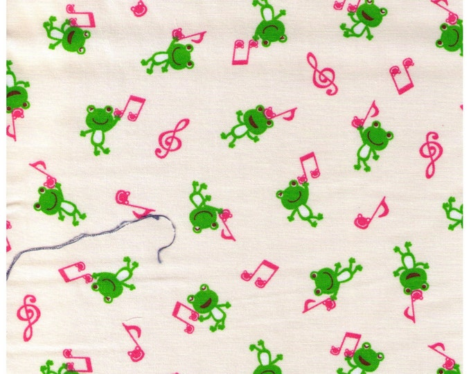 """Last Chance EOB 26"""" Cut - Frogs and Pink Music Notes"""
