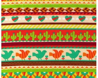 Sale Half YARD - Cosmo Textiles, Japanese, Southwestern, Cactus, Birds, Stripes, Flowers, Hearts, Leaves