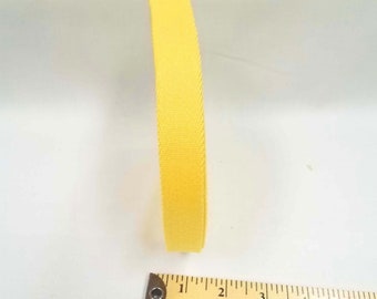 HALF YARD - Japanese Webbing - Color 706 Yellow - 20MM WIDE - Item 157020 Japanese Imported