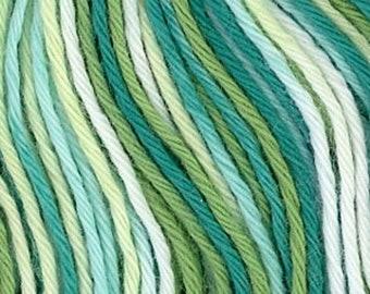 Sashiko Thread #51 Green, Yellow, White Variegated - 100% cotton - 20 meter (22 yd) skein - Hand Stitching- Japanese Import
