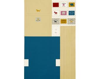 PANEL Lecien - Make It Magic by Koko Seki - Messenger Bag Blue and TAN- 40842-10 - Canvas Japanese Import