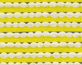 HALF YARD - Echino 2019 - Trail - Yellow Colorway 97040 40D - Cotton Linen Sheeting - Stripe, Geometric