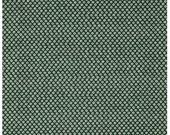 HALF YARD Kanoko on GREEN - Traditional Japanese design -  Shibori Cosmo Textile Japanese Fabric