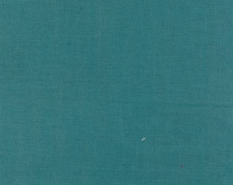 HALF YARD Kokka - Echino Solid Seafoam Blue Green JG-95410-10N - Japanese Import Fabric Solids