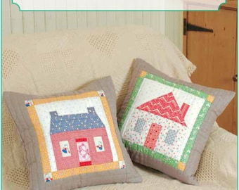 ZAKKA WORKSHOP Patterns - House Pillows - English Edition - Japanese Patchwork Pattern