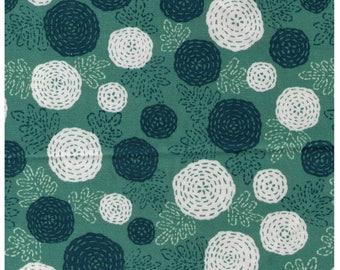 HALF YARD Yuwa - Ten Ten by Anyan -Twilight Green Colorway 152174-B - Cotorienne Japanese Fabric