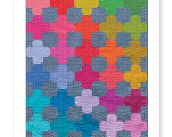 "Alison Glass Patterns -VENTANA Quilt Pattern by Nydia Kehnle and Alison Glass - 50"" x 60"" Quilt Pattern"