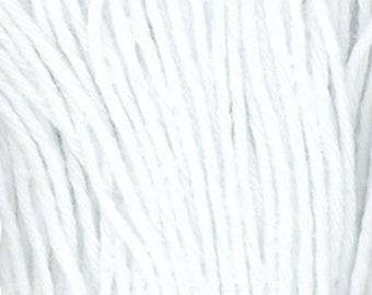 Sashiko Thread #101 WHITE - 100% cotton - 100 meter (109 yd) skein - Hand Quilting and Stitching- Japanese Imported