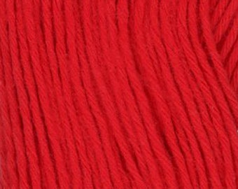 Sashiko Thread #105 RED - 100% cotton - 100 meter (109 yards) skein - Hand Quilting and Stitching- Japanese Imported