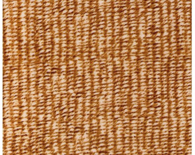 HALF YARD - Photo Realistic Natural Basket Weave, Oxford Cotton - Cosmo Textiles, Japanese Import
