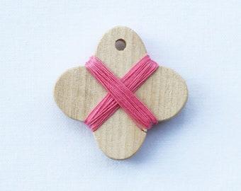 Cohana - Pink - Wooden Thread Winder - Japanese Import