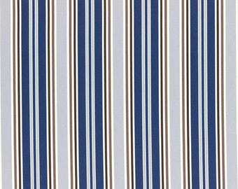 HALF YARD Lecien - Grey, Navy, Brown and Light Brown STRIPES - 40659-77 - Flower Sugar Maison Spring 2016 - Japanese