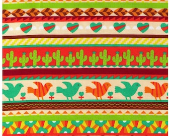 Half YARD - Cosmo Textiles, Japanese, Southwestern, Cactus, Birds, Stripes, Flowers, Hearts, Leaves