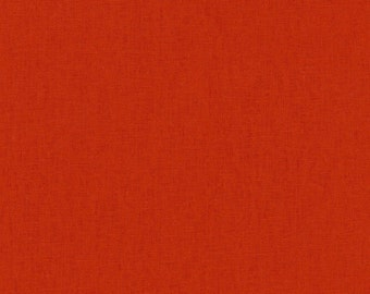 HALF YARD Kokka - Echino Solid Prawn Orange JG-95410-10i  - Japanese Import Fabric