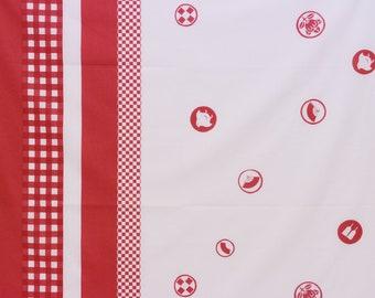HALF YARD Yuwa - Dot Border by Yoshiko Jinzenji - JZ312731-C - Cotton Lawn - Low Volume Print - Japanese Import Fabric