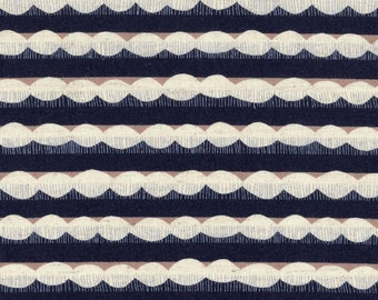HALF YARD - Echino 2019 - Trail - Navy Colorway 97040 40E - Cotton Linen Sheeting - Stripe, Geometric