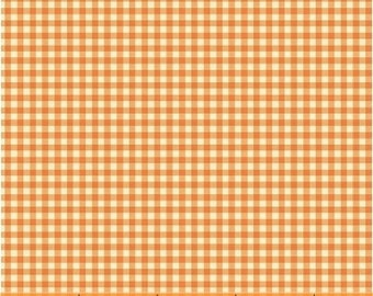 HALF YARD - Gingham in Tangerine Orange - 50900-13  Trixie by Heather Ross - Windham Fabrics