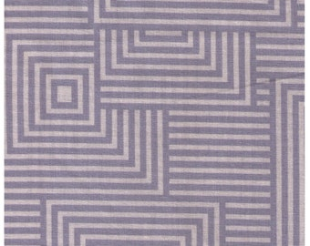 HALF YARD Lecien Geometric Collection - Squares in GREY - 41108-90 - Cotton Linen Blend Canvas - Japanese
