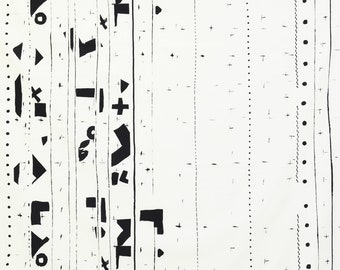 HALF YARD Yuwa - Border by Yoshiko Jinzenji - JZ822325-A - Cotton Sheeting  - Low Volume Print - Japanese Import Fabric