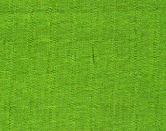 HALF YARD Kokka - Echino Solid Apple Candy Green JG-95410-10J - Japanese Import Fabric Solids