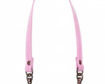 "Inazuma - 12-1/2"" Swivel Hook Purse Handle - Light PINK w/ SILVER Hooks - HS-320S - Synthetic Leather - Japanese Imported Notions"