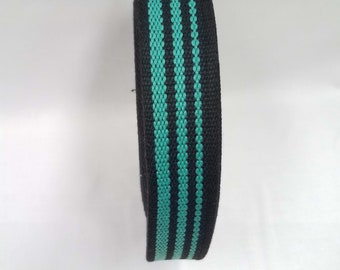 HALF YARD - Japanese Webbing - Color 28 Aqua Blue - 35MM WIDE - Item 507035 Japanese Imported