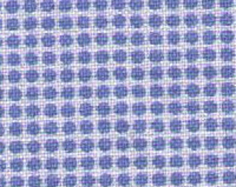 """Last Chance EOB 7"""" Cut - Blue Ultra Mini Polka Dots on White 30816-30 - Retro 30s Child Smile Collection Lecien - Tiny Small Grid - Japanese"""