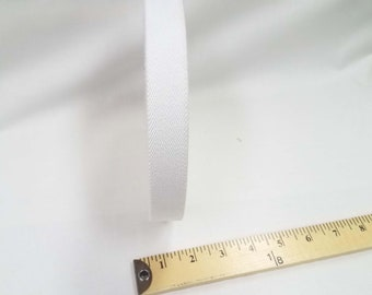 HALF YARD - Japanese Elastic Webbing - Color 2 White  - 25MM WIDE - Item 132525 Japanese Imported