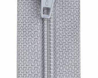 Coats & Clark - All-Purpose Polyester Coil Zipper - NUGREY - 12 inch