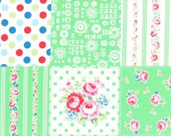 HALF YARD Flower Sugar Sweet Carnival - 31376-60 - Green Cheater - Fall 2016 Lecien - Japanese