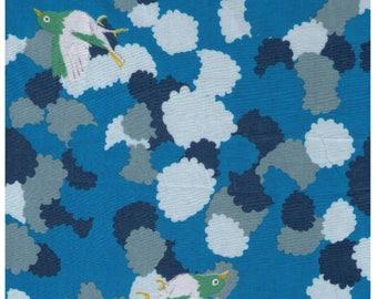 HALF YARD Yuwa - Cortori by Anyan - Dawn Blue Colorway 312735-A - Cotorienne Japanese Fabric