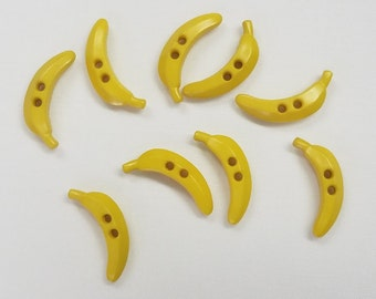 Banana Button - Yellow Banana Colorway 25 mm - Made in Germany - Washable and Dry Cleanable 220848