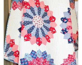 BLOOMING DRESDEN Quilt by May Chappell - Paper Pattern - MC029