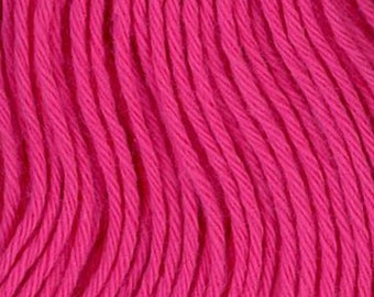 Sashiko Thread #21 HOT PINK - 100% cotton - 20 meter (22 yd) skein - Hand Quilting and Stitching- Japanese Imported