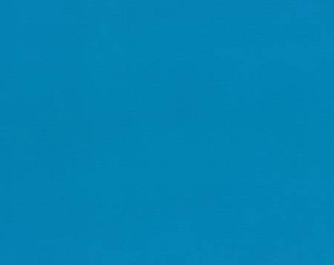HALF YARD Lecien - 6010L-7007 Peacock Blue - 1000 Color Solids  - Japanese Import Fabric