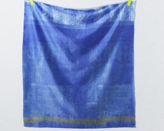 Half Yard Kokka - Nani Iro - Naomi Ito Textile Ripple - 10743-1B - Blue Colorway - Japanese Cotton Sateen